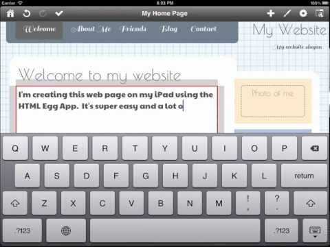 You can make your own web page using Web Page Creator for iOS, on you iPad!