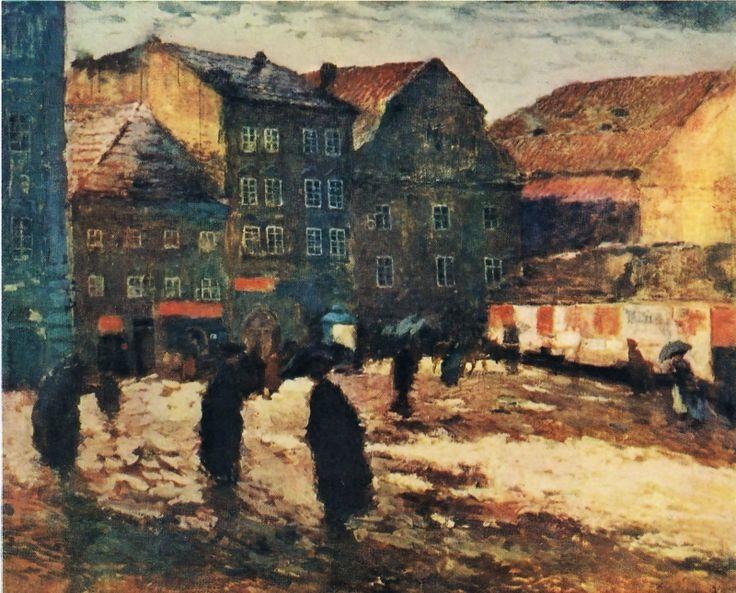 Antonín Slavíček - Marian square (1906)