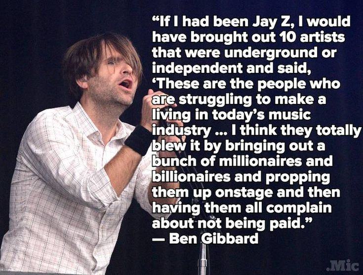 Image result for ben gibbard quotes