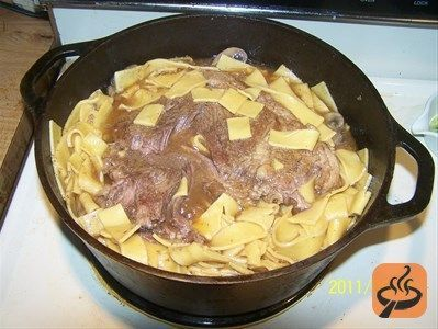 Amish Style Beef and Noodles recipe