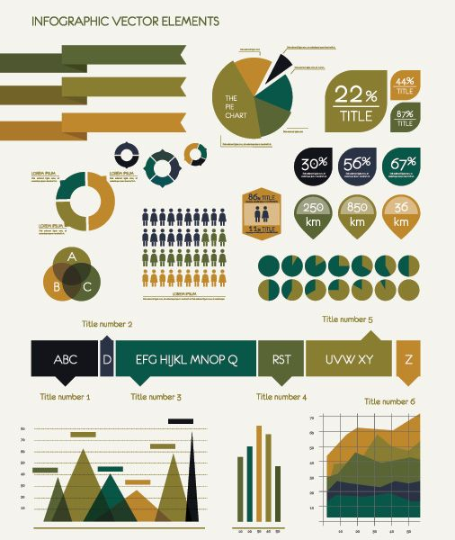 Free infographic design elements for the research/design nut.