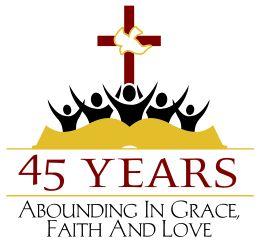 church anniversary logo crest seal design