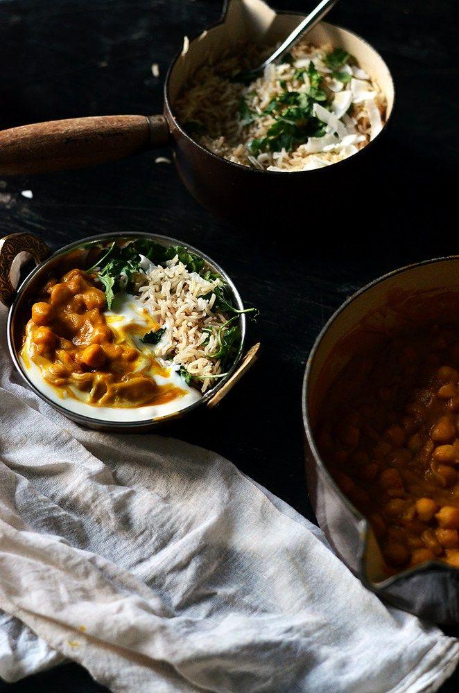 Roasted Pumpkin Chickpea Curry! Vegan & Gluten-free