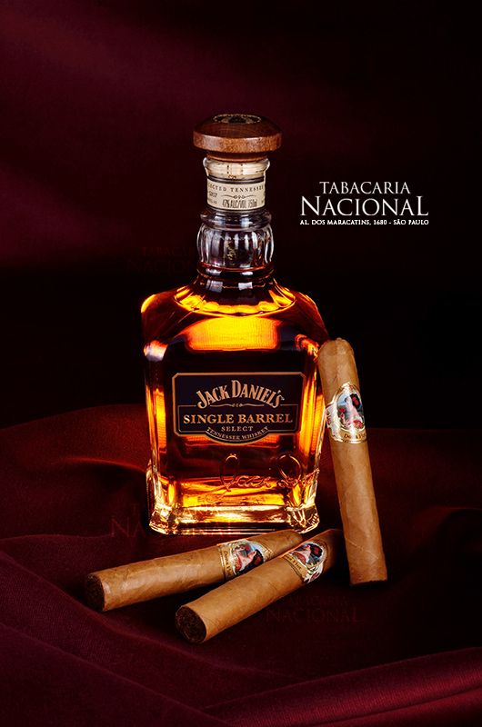Jack Daniels Single Barrel Whiskey with Brazilian Dona Flor Cigars