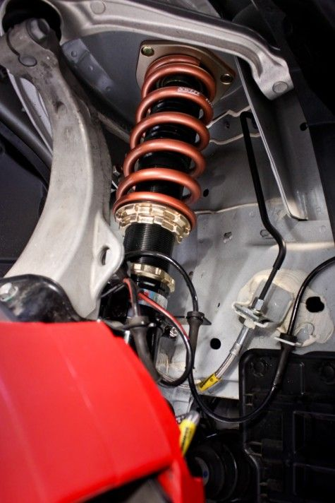 Infiniti G37x with Aftermarket Coilover Shocks