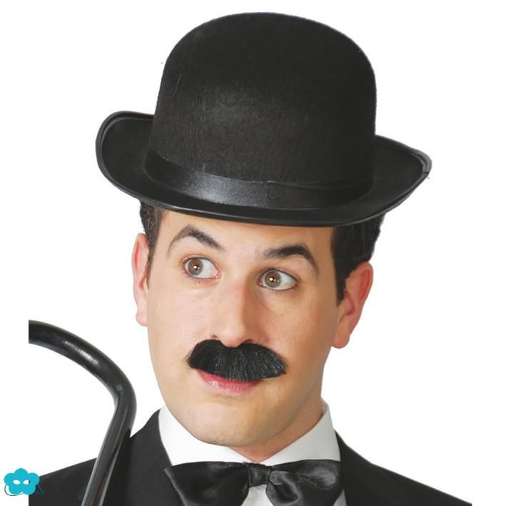 Sombrero bombín negro Charlot