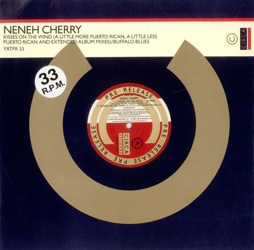 """Neneh Cherry Kisses On The Wind - Pre-Release 1989 UK 12"""" vinyl YRTPR33: NENEH CHERRY Kisses On The Wind (1989 UK promotional Pre-Release…"""