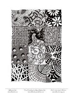 Zentangle doodles-en-zentangle
