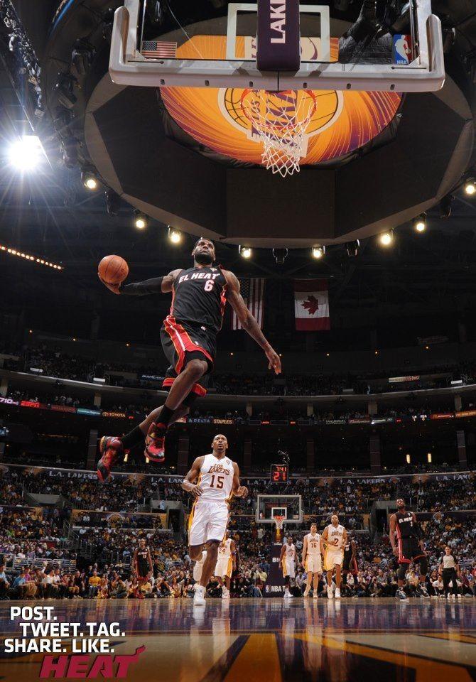 LeBron James Soars Past The Lakers #LeBron #LeBronJames www.stores.ebay.com/G-Sports-Enterprises