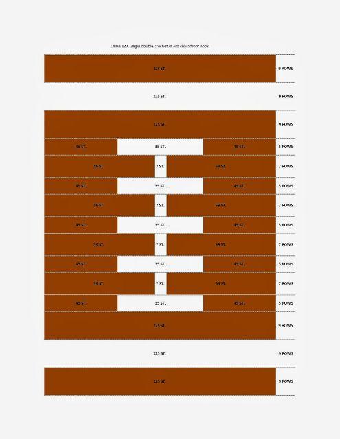 Whitniffic Whatnots: Football Blanket Crochet Chart