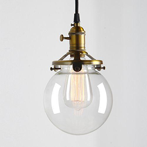 Industrial Factory Pendant Lamp 5.9 inch Round Clear Glas...