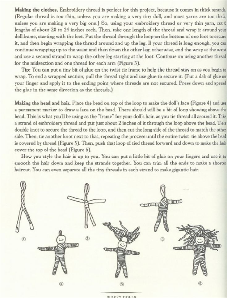 worry doll instructions - Pinned by The Mystic's Emporium on Etsy