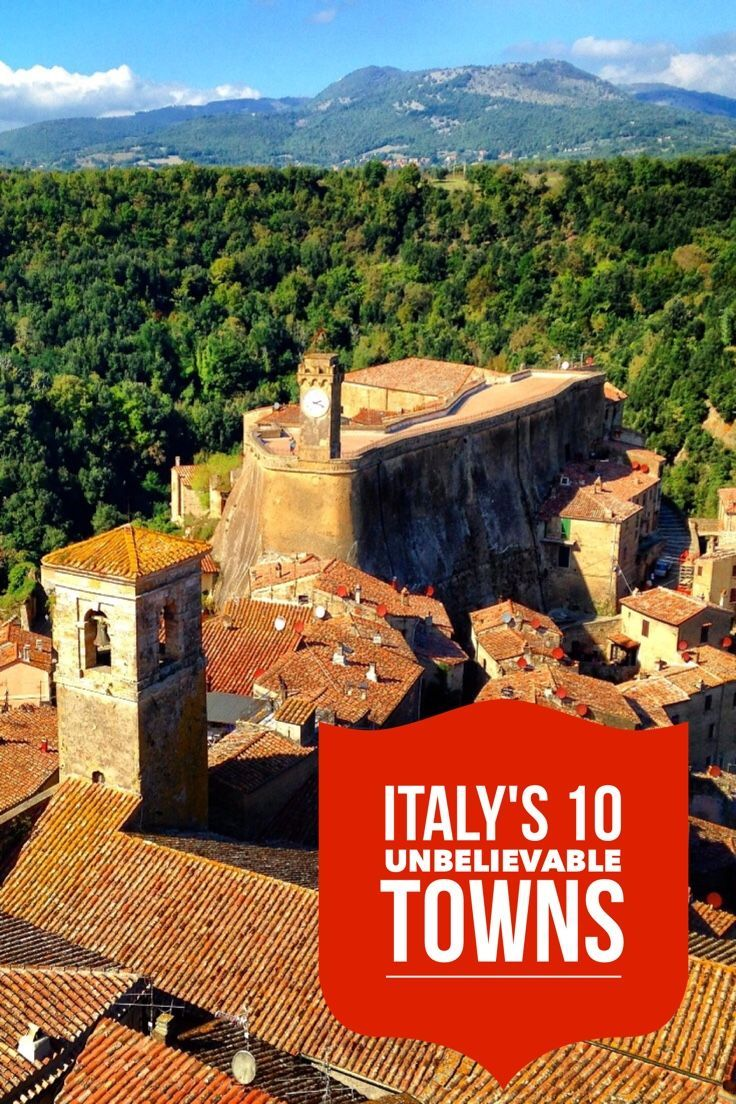 10 Italian towns you must see on a trip to Italy. The rolling hills and vineyards of Tuscany and Umbria are watched over by towns teetering on hilltops so beautiful you have to see them to believe.