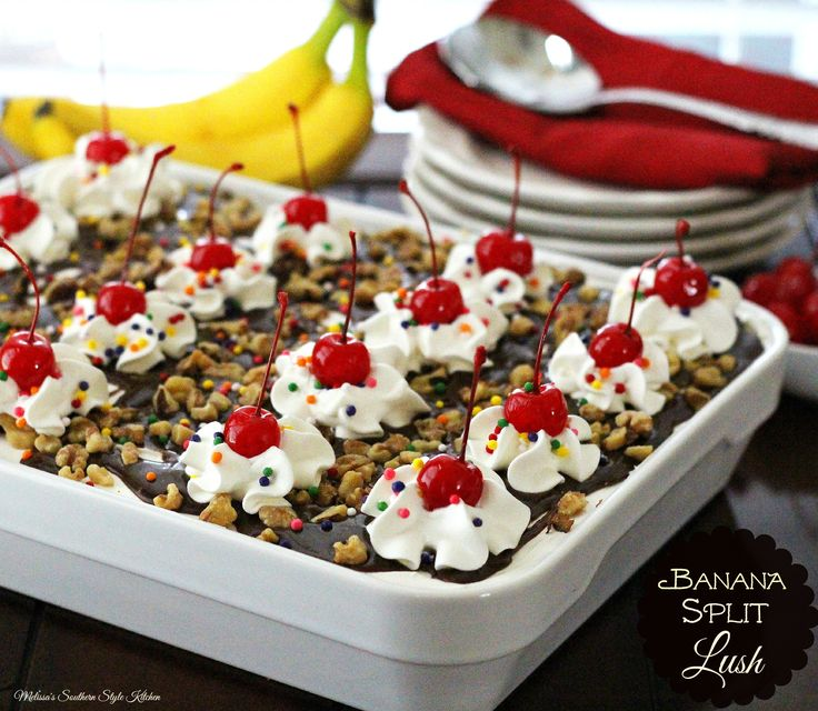 Recipe for banana split cake without eggs