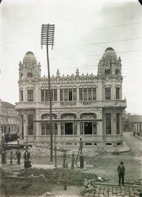 Edificio Castromil. 1926 Fotografías antiguas de Santiago de Compostela.