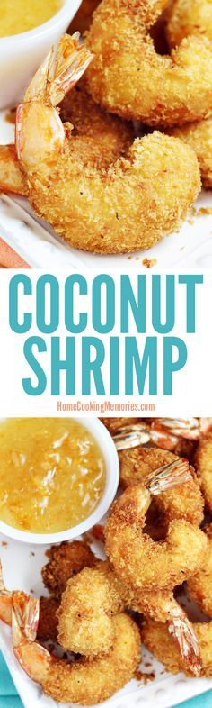 This Coconut Shrimp recipe is delicious as party food appetizer or as a main dish for dinner. For the best results, use extra large shrimp. The crispy coating is made from panko breadcrumbs, coconut flour, and coconut flakes.