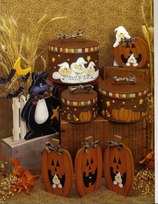 Stone Hill Collectibles - Fall Thanksgiving and Halloween Prim Decorative Painting Patterns