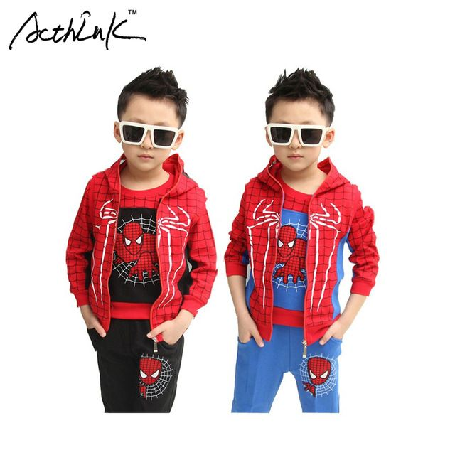 Special price ActhInK New 3Pcs Kids Spiderman Winter Costume Suit Boys Sports Suit Fashion Children Spring Spiderman Tracksuit for Boys, C049 just only $22.49 - 27.49 with free shipping worldwide  #boysclothing Plese click on picture to see our special price for you