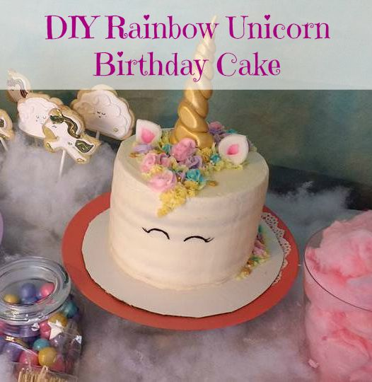 Follow this great series for how to throw your own Unicorn birthday party, including an awesome tutorial for a rainbow layer unicorn cake!