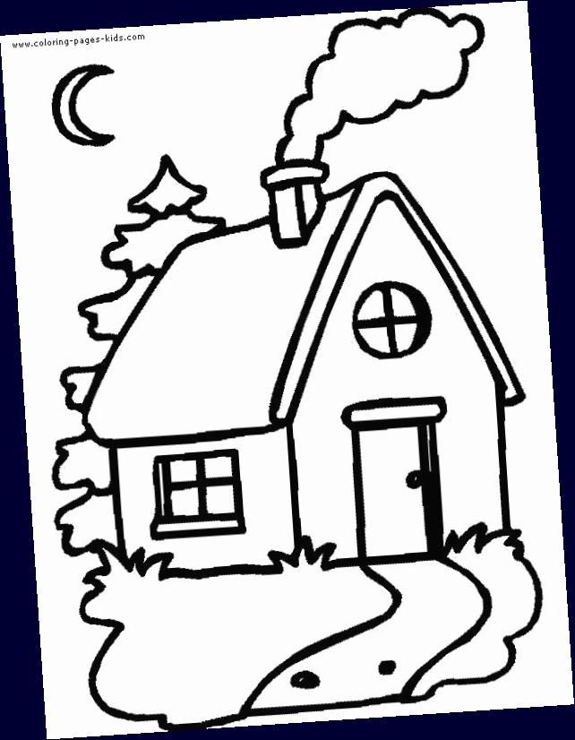 Color Page House Color Page Family People Jobs Coloring Pages Color Plate Coloring Sheet In 2020 House Colouring Pages Coloring Pictures House Colouring Pictures
