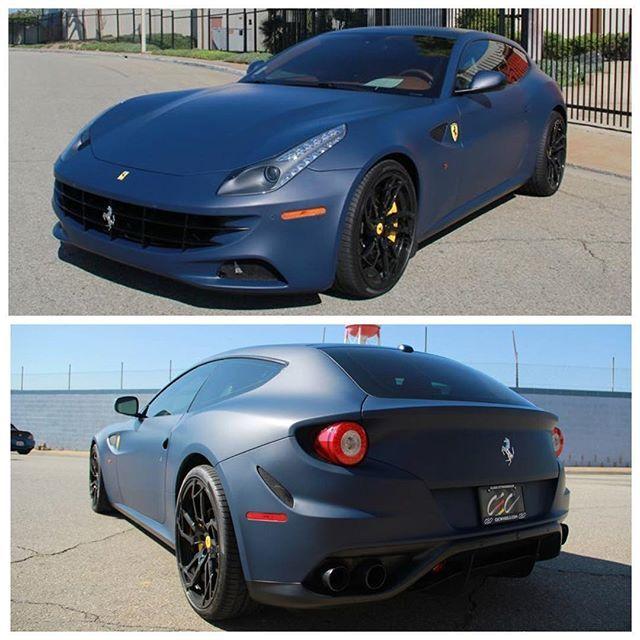 Ferrari FF Full Wrapped In 3M Matte Indigo Blue