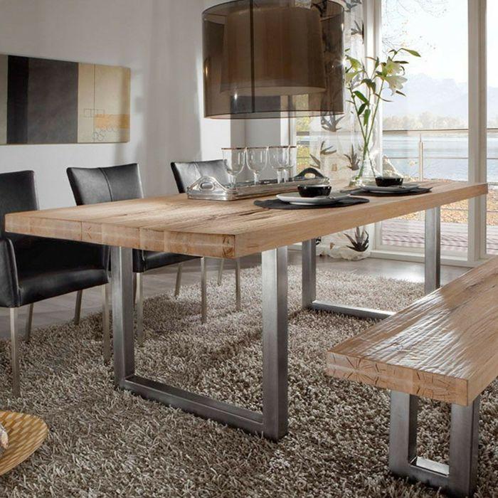 Holztisch modern  Die 33 besten Bilder zu Tische auf Pinterest | Werbung ...