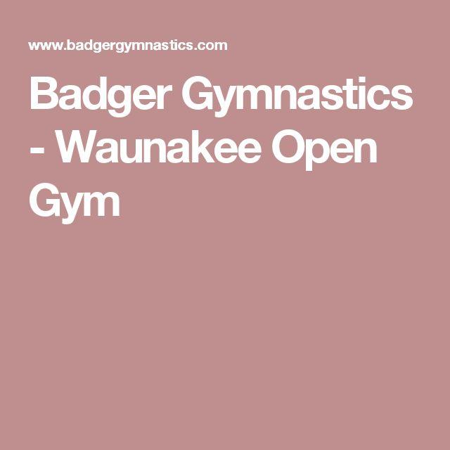 Badger Gymnastics Waunakee Open Gym Open Gym Gymnastics Gym