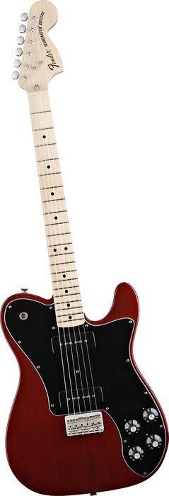 Fender Classic Player Telecaster Deluxe Black Dove Electric Guitar Crimson Transparent
