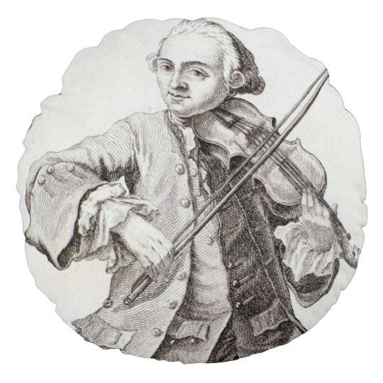 Portrait de Leopold Mozart Coussins Ronds