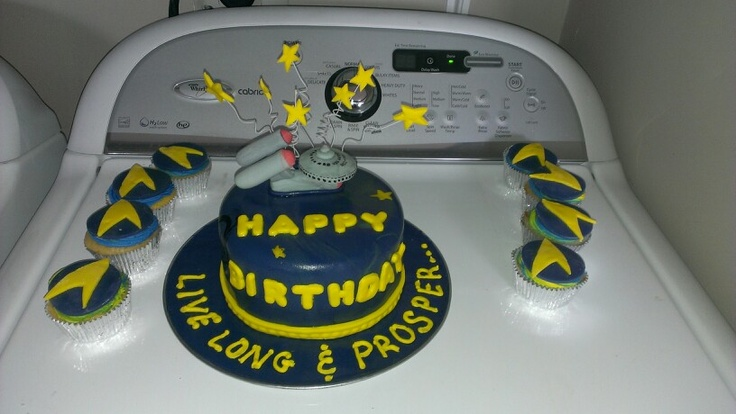 Jamie's Star Trek cake