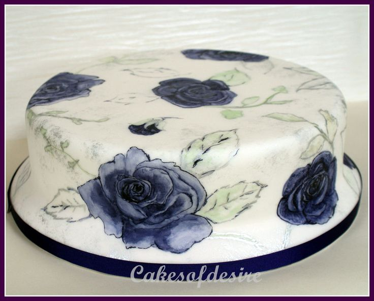 ... made . It is hand painted | Baking Cake - Hand Painted | Pinterest