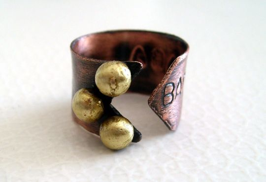 Rings – Arrow. personalized copper ring – a unique product by LydiaRED on DaWanda