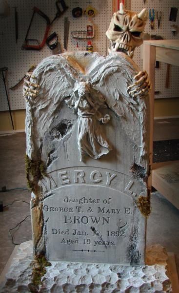 Weeping Angel Tombstone: Tutorial - Blogs - Halloween Forum