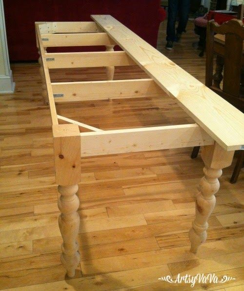 I have wanted a farmhouse table for the longest time! And, I wanted my son to build it. After about a million hints (actually they...