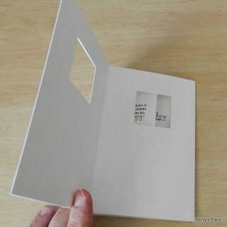 peek-a-boo card. These are wonderful cards that have a sliding section that moves when you open and close them. - tutorial - bjl