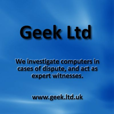 www.wow-a2z.com member 'Geek Ltd'. Having problems with your computer or a related dispute? Get the expert forensics in.
