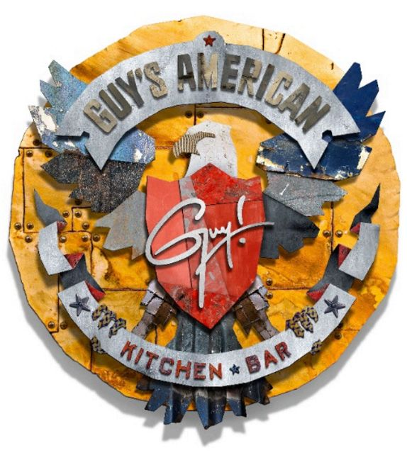 UnderConsideration- Guy's American Kitchen and Bar Logo