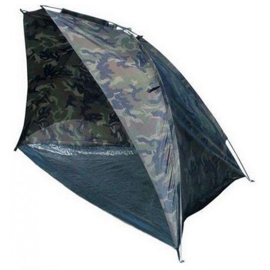 Strandtent met camouflage print. Stoere strandtent met camouflage print van het merk Abbey Camp. Deze tent is ongeveer 260 x 120 x 120 cm en zit in een handige draagtas verpakt.