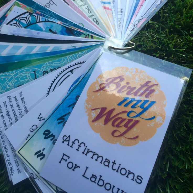 26 Birth Affirmations laminated and ready for your to take anywhere! Great keepsake of your birth 💜