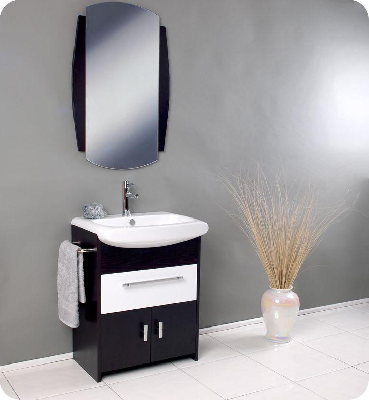 Fresca Distinto Modern Bathroom Vanity With Wenge Wood Finish. In Our  Basement Bathroom.