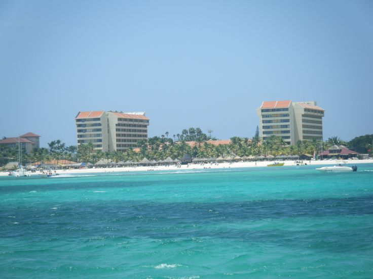 Occidental Grand Aruba... The view from our private boat tour!