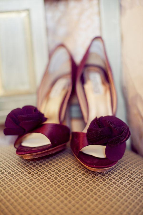 badgley mischka purple heels