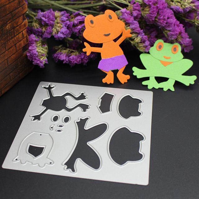 Metalen Stansmessen Scrapbooking Kaarten Puzzel Kikker DIY Zilveren Stencil Voor Muren Plakboek Mechine Embossing Ambachten Sterft