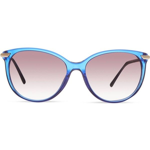 blue burberry sunglasses ppph  BURBERRY B4186 round sunglasses $240  liked on Polyvore featuring  accessories, eyewear,
