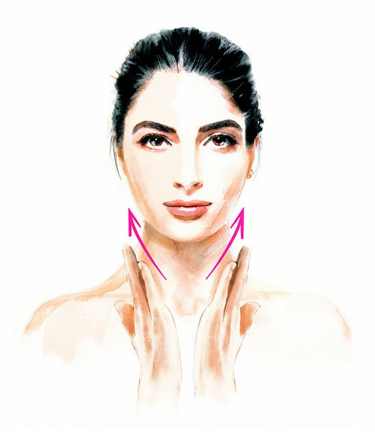 Beauty tips: how to end with the neck wrinkles. Revista Clara november issue. Illustrations of Clara - Belleza by Luis Tinoco