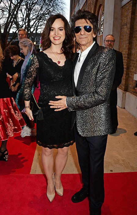 Ronnie Wood and his wife Sally have welcomed twin baby girls