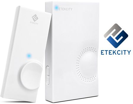 Wireless Doorbell Kit w/ Plug-In Chime Receiver & Remote Transmitter