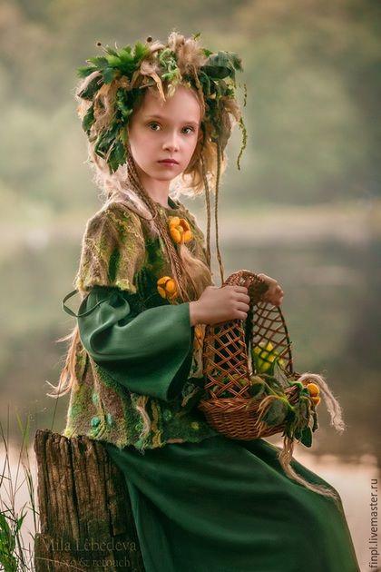 Felted clothes setfor girl / Детские карнавальные костюмы ручной работы. Ярмарка Мастеров - ручная работа. Купить Лесная фея. Handmade. Разноцветный, ундина, для девочки