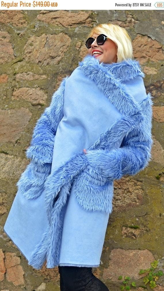 SALE 25% OFF Light Blue Faux Sheepskin Coat / Extravagant https://www.etsy.com/listing/480777626/sale-25-off-light-blue-faux-sheepskin?utm_campaign=crowdfire&utm_content=crowdfire&utm_medium=social&utm_source=pinterest