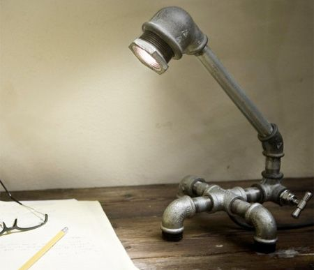 water pipe lamp... quite cool and creative
